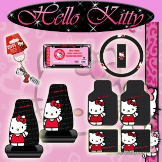 Wave Sanrio Seat Covers Rubber Floor Mats License Frame Wheel Cover