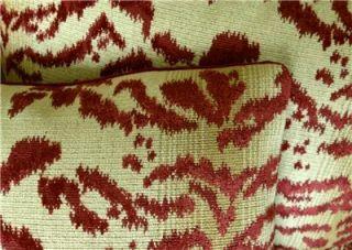 Cowtan Tout Velvet Fabric Designer Custom Throw Pillows Upholstery Red