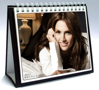 Stana Katic 2013 Desktop Holiday Calendar Castle Kate Beckett