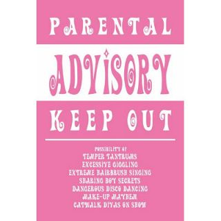 Parental Advisory Poster Keep Out Girly Sign Diva Pink