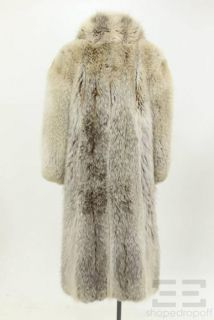Keim Furs Tan Brown Coyote Fur Full Length Coat