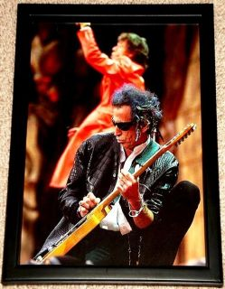 Keith Richards Rolling Stones Framed Concert Portrait