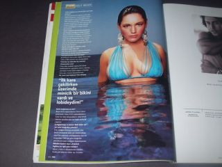 Kelly Brook Sexy Swimsuit Cover Turkish FHM Mag Katie Holmes Jean Reno