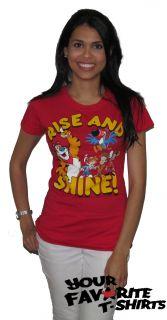 New Licensed Kelloggs Tony Tiger Rise and Shine Women Junior Shirt s
