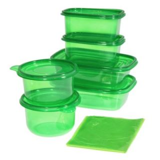 Stay Fresh Plastic Storage Containers + 10 Green Fresh Bags Fruit