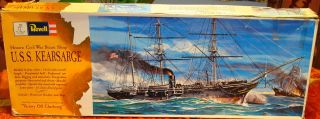 1961 USS Kearsarge Vintage Revell Model Kit H 391 Unstarted Old RARE