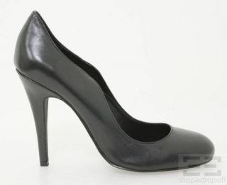 Kelsi Dagger Black Leather Lillian Pumps Size 8 5 New