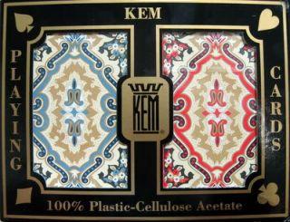 KEM Plastic Playing Cards Bridge Jumbo Index 2 Decks