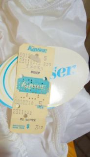 NOS Vintage Sheer White SILKY Nylon Kayser Panties SILKIN 5 USA Made