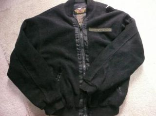 Authentic Harley Davidson black fleece front zip sweater/jacket. Size