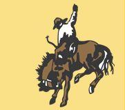 Vintage Comstock Cowboy Rodeo Steer Roping German Silver Western Belt