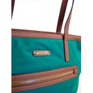 Michael Kors Aqua Nylon Kempton Large NS Tote Handbag Bag