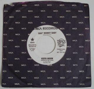 Keith Moon DonT Worry Baby EX MCA White Label Promo Mono 45 The Who