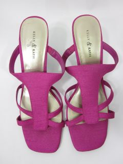 Kelly and Kate Fuchsia Sandals Heels Shoes Sz 9 5