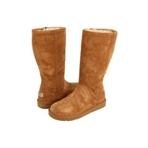 UGG Australia Kenly Womens Suede Boots Chestnut 8