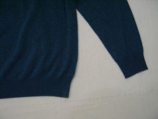 Mens XXL Kenneth Roberts Platinum 100% Cashmere V Neck Sweater 2XL 2X