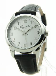 Womens Kenneth Cole Black Leather New Casual Watch KC2640