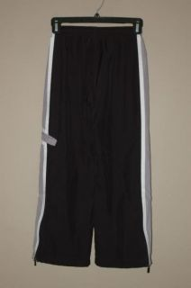 Boys Nike Black Lined Athletic Pants Size Small 8 Gym School Sports