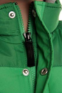 DC Boys Bushwick Jacket Size M Kermit Green Grey