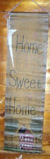 Home Sweet Home Canvas Wall Hanging New