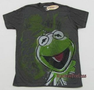 New The Muppets Kermit Green Frog Size Large Tshirt T Shirt Tee