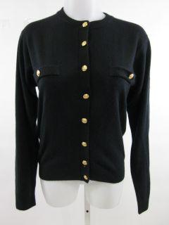 Kerri N Kelsey Black Button Front Cardigan Sweater Sz S