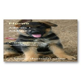 German Shepherd Puppy Business Card