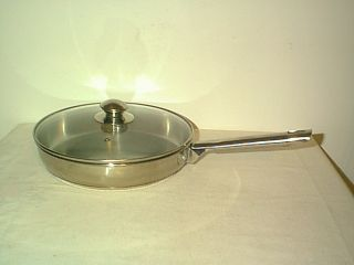 Kirby Allen 10 Stainless Steel Tri Ply Disc Bottom Skillet Fry Pan