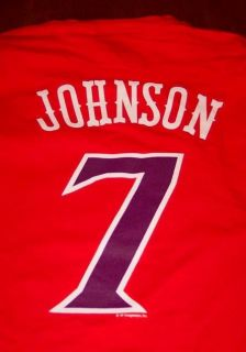 Phoenix Suns Kevin Johnson 7 NBA T Shirt Large New