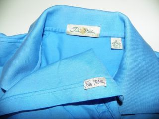 Peter Millar Baby Blue Golf Polo Shirt M Med Medium Cotton