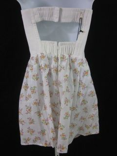 New Kettle Black White Floral Corset Top Mini Dress Med