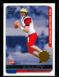TOM BRADY 2000 PACIFIC PARAMOUNT RC #/79 **PREMIERE DATE** MISSING