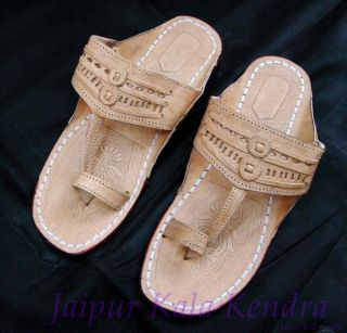 Jaipuri Camel Lather Famous Mens Jutti Slipper Shoe Indian Rajsthani