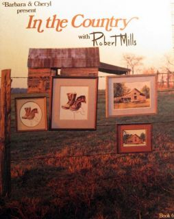 Cross Stitch Pattern Booklet in The Country Farm Theme Barn Boots