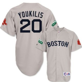 2012 Kevin Youkilis Boston Red Sox Road Grey Jersey Fenway 100th Mens