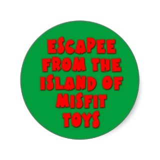 Escapee the Island of Misfit Toys Round Stickers