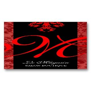 311 Marley Monogram Red Business Card