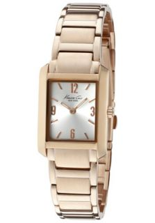 Kenneth Cole Watch KC4807 Womens Silver Dial Rose Gold Tone ion