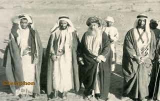 Sheikh Khaled,Sheikh Shakhbut, The Sultan Of Muscat, And Sheikh Zaid