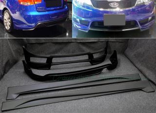 For 10 13+ Kia Fore 4DR Sedan Full Bumper Body Ki Lip Side Skir