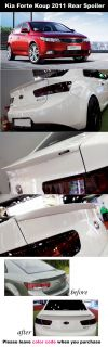 Kia Forte Koup Cerato Koup Rear Trunk Lip Spoiler 2010 2011 Painted