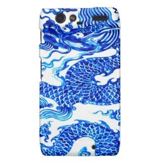 Blue Dragon Fantasy Myth Antique Chinese Vase Art Motorola Droid RAZR