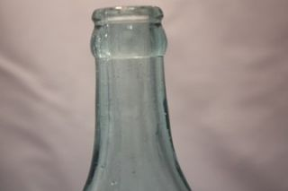 Rare W. W. Maurer Beer Soda Bottle Blue Glass Embossed Keyport N.J