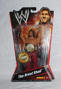 NIP The Great Khali Wrestling Action Figure Series 3 WWE 911 / 1000