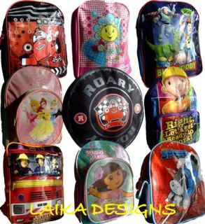 Kids Boys Girls Cartoon Rucksack Backpack School Bag