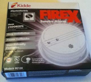 Kidde Firex Smoke Detector Fire Alarm Photoelectric PE120 New in Box