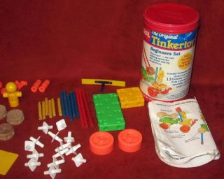 Vintage Playskool Original Tinkertoy Beginner Book 1986