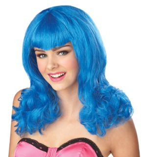 Katy Perry Blue Wig Womens Halloween Costume Accessory