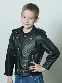 New Kids Premium Zip Leather Motorcycle Jacket
