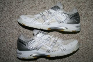 Asics Gel Rocket white & gray womens athletic volleyball shoes   nine